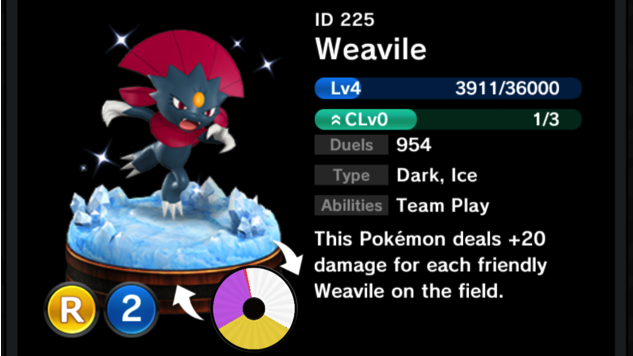 pokemon-duel weavile