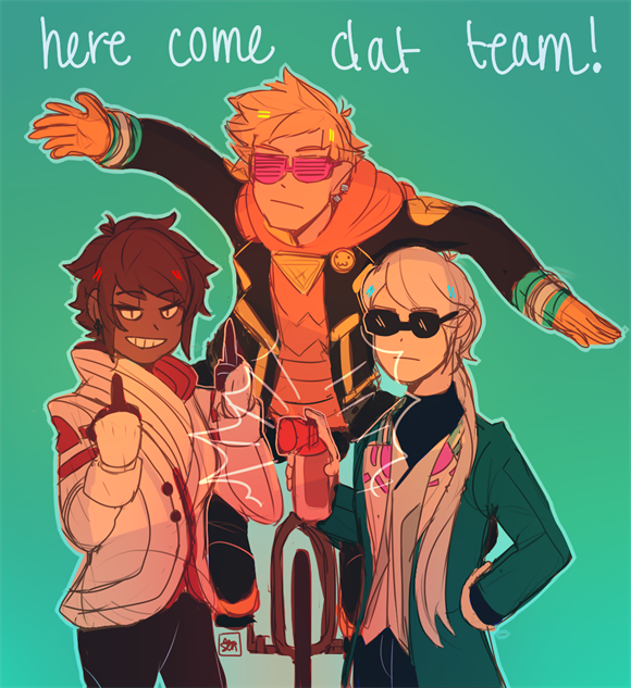 pokemon-go-fanart here-come-dat-team-hirnatoki