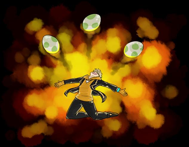 pokemon-go-fanart spark-eggs-explosion-ravefirell