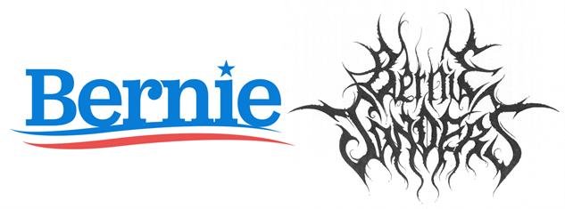 presidential-candidate-black-metal-logos bernie-black-metal