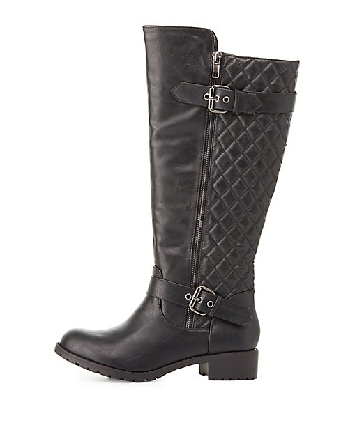 pretty-knee-high-boots quilted