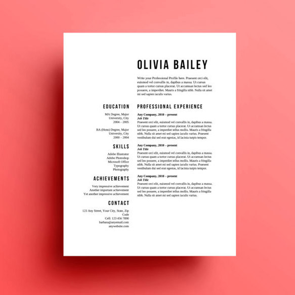 Resume Templates Resume1 Skylarking Designs ...  Graphic Designer Resume Template