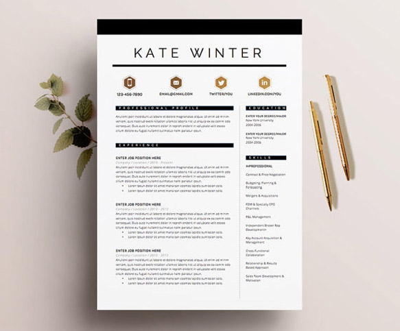 modern resume graphic design