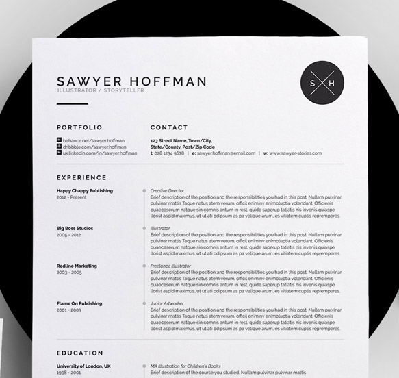 Resume Templates Resume4  Cool Resume Templates