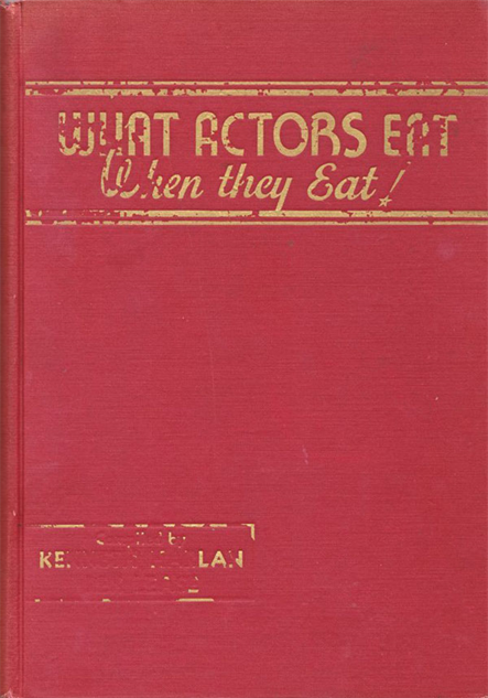 saddest-cookbooks what-actors-eat-cookbook