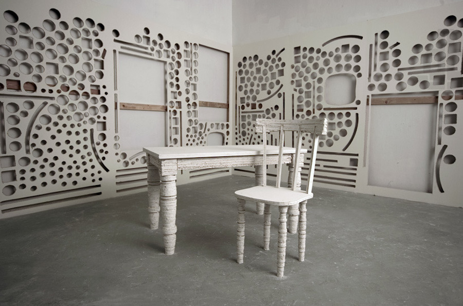 Chicago Sculptor Transforms Drywall Into Furniture