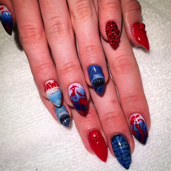Jaws On Your Claws The Best Shark Week Nail Art Design