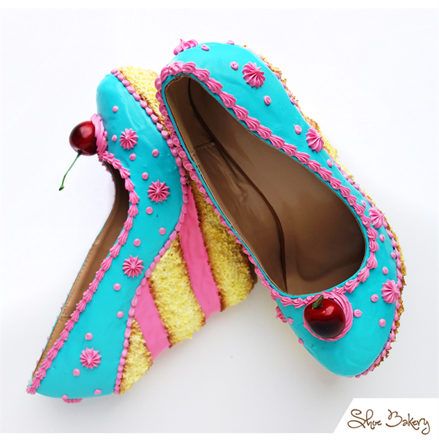 90ab26c0579 Premium Ice Cream collection  shoe-bakery teal-and-pink-cake-wedge