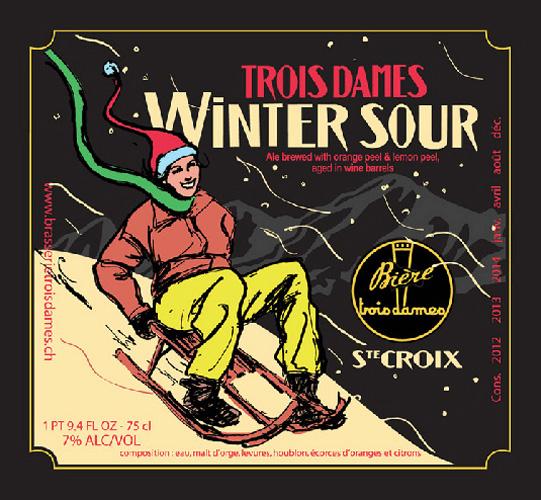 sledding-beer trois-dames-winter-sour