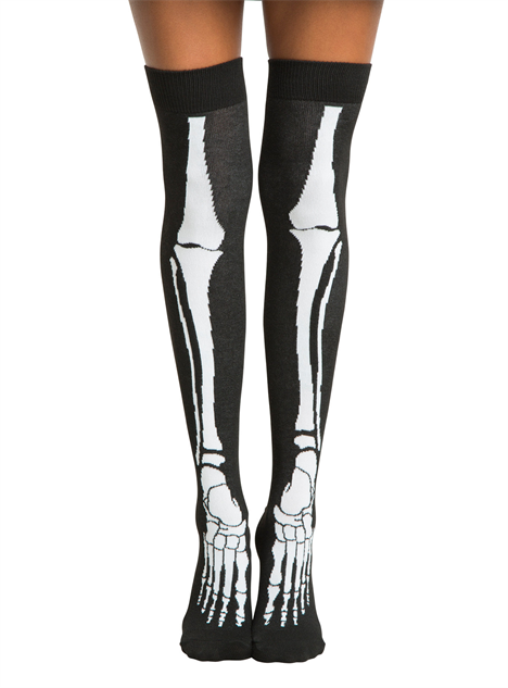 sneaky-novelty-socks skeleton