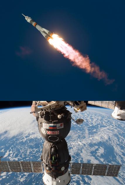 spaceships soyuz-rocket-and-craft