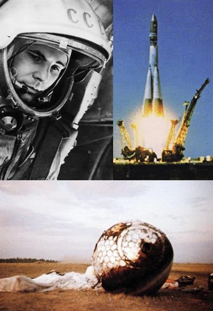 spaceships yuri-gagarin-and-vostok