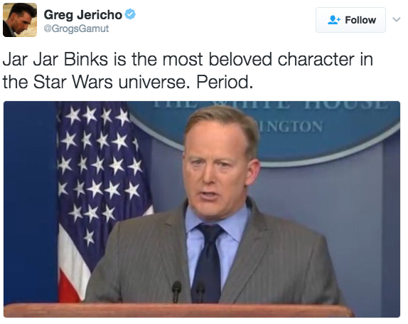 spicer-tweets grogsgamut