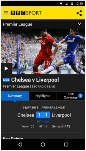 sportsappsandroid bbcsport