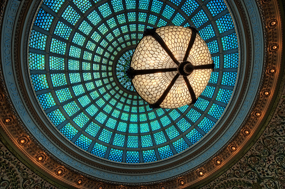 stained-glass chicago-cultural-center-tiffany-dome-chicago