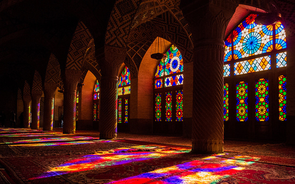 stained-glass nasir-ol-molk-mosque-iran
