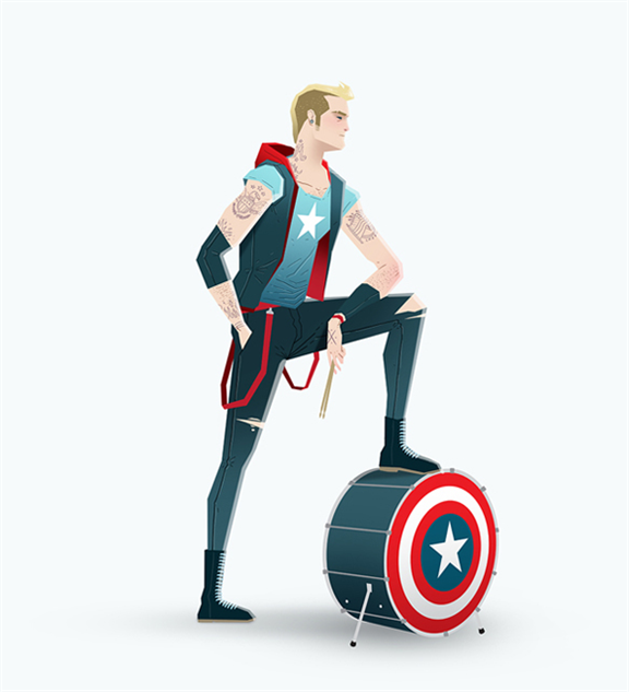 super-rockers captainamerica