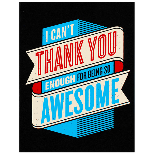 10 Cool Cards To Help You Say Thanks Design Galleries Paste