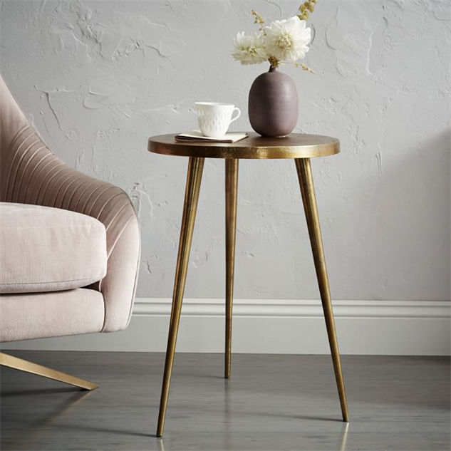 ... Tiny Accent Tables Brass