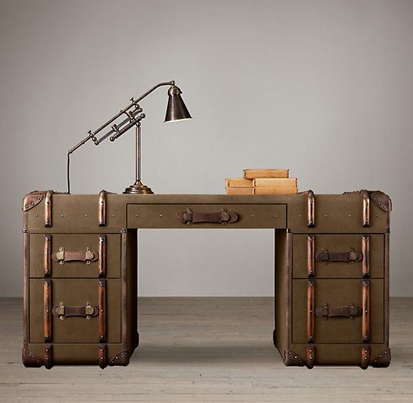 traveldecor richards-trunk-desk-restoration-hardware