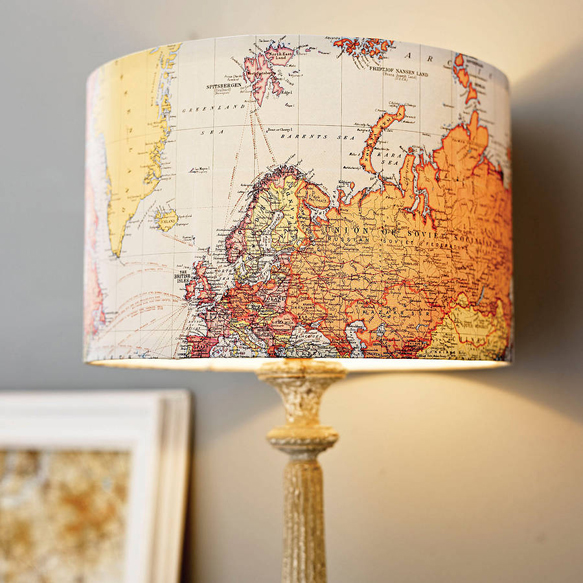 traveldecor vintage-map-lamshade-not-on-the-high-street