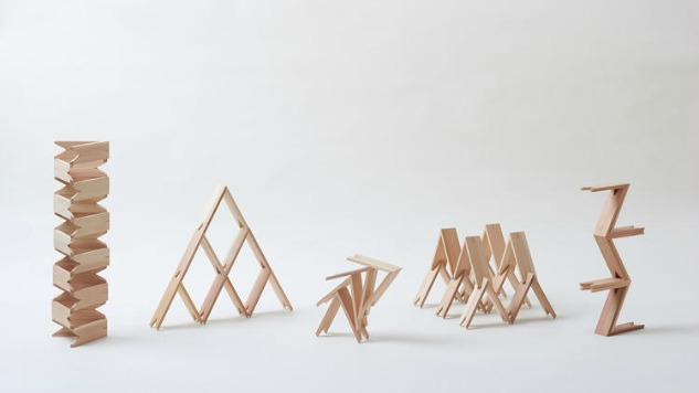 Japanese Architects Make Triangle Building Blocks For More Creative Child's Play