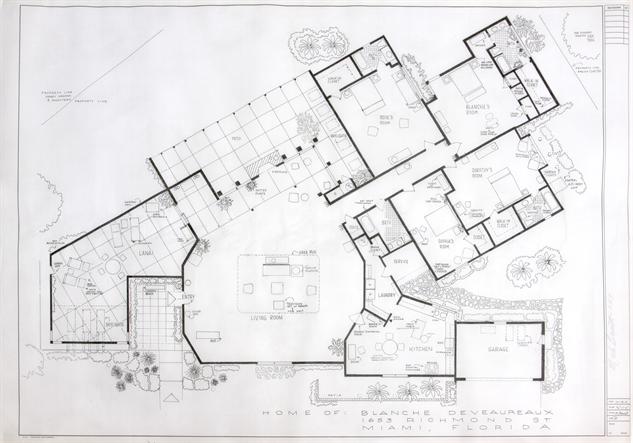 tv-homes-blueprint bennett-blanche-golden-girls
