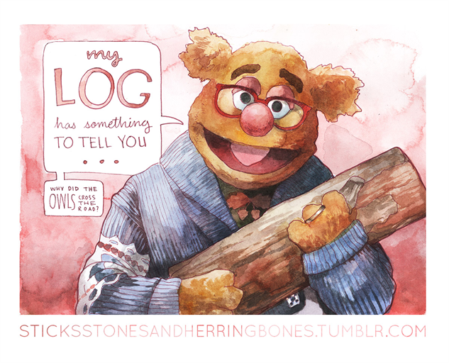 Check Out These Wonderfully Weird Twin Peaks/Muppets Mashup Illustrations