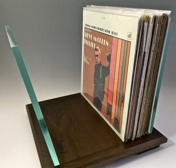 ... Vinyl Record Storage Glass