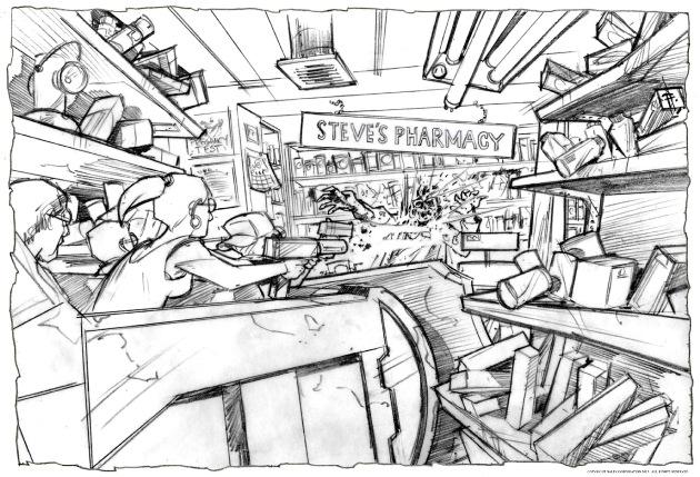 walkingdeadride art-07-steves-pharmacy---collecting-supplies-small