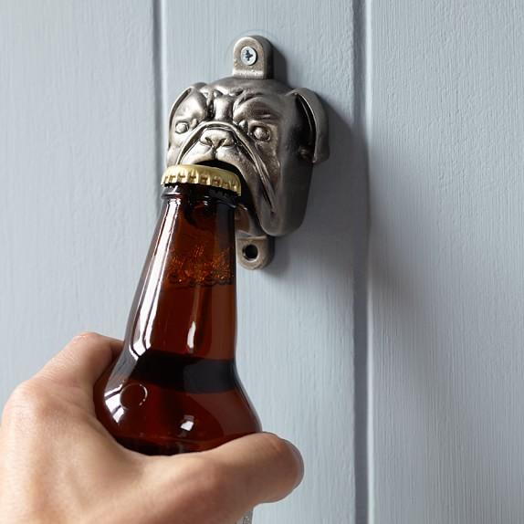 Wall Mount Bottle Opener Bulldog