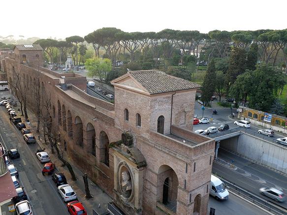 walls aurelian-walls-rome