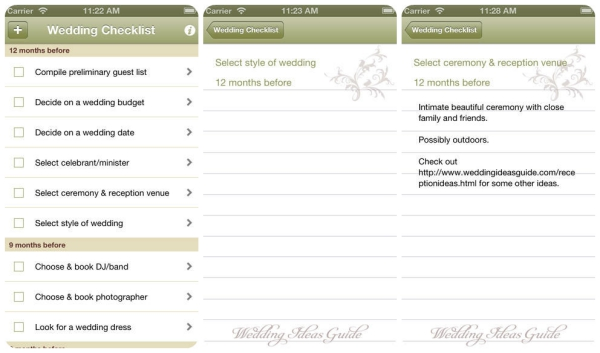 wedding-apps weddingchecklist