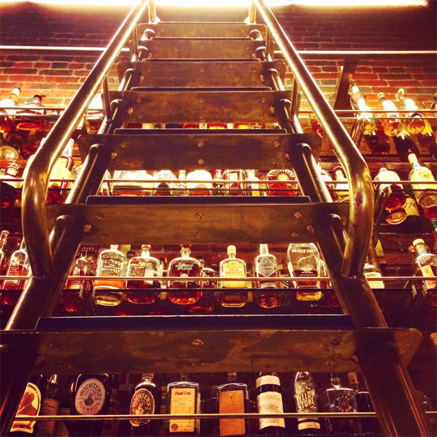 whiskey-library ladder