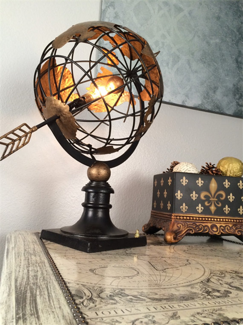 Cartographic home dcor to inspire escape travel galleries world map home globe lamp etsy gumiabroncs Images