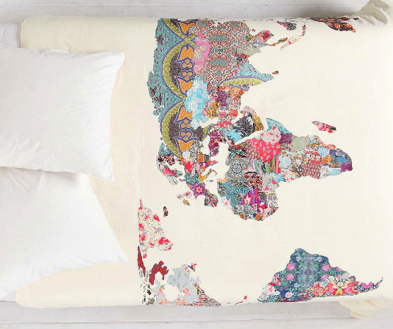 world map home world duvet urban outfitters