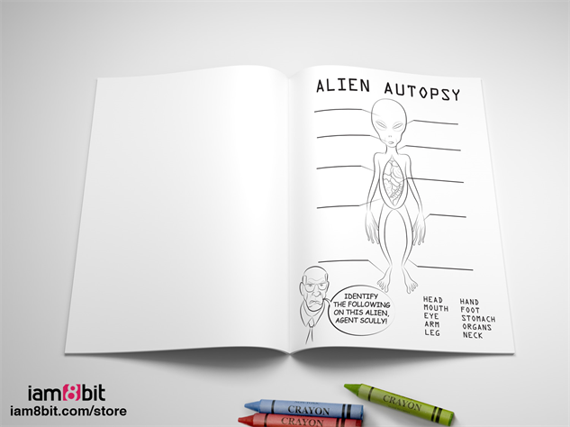 x-files-art-exhibit 02-x-files-coloring-book-iam8bit