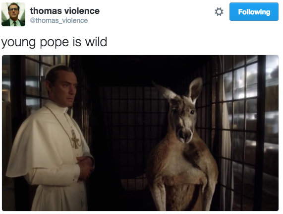 young-pope-tweets thomas-violence